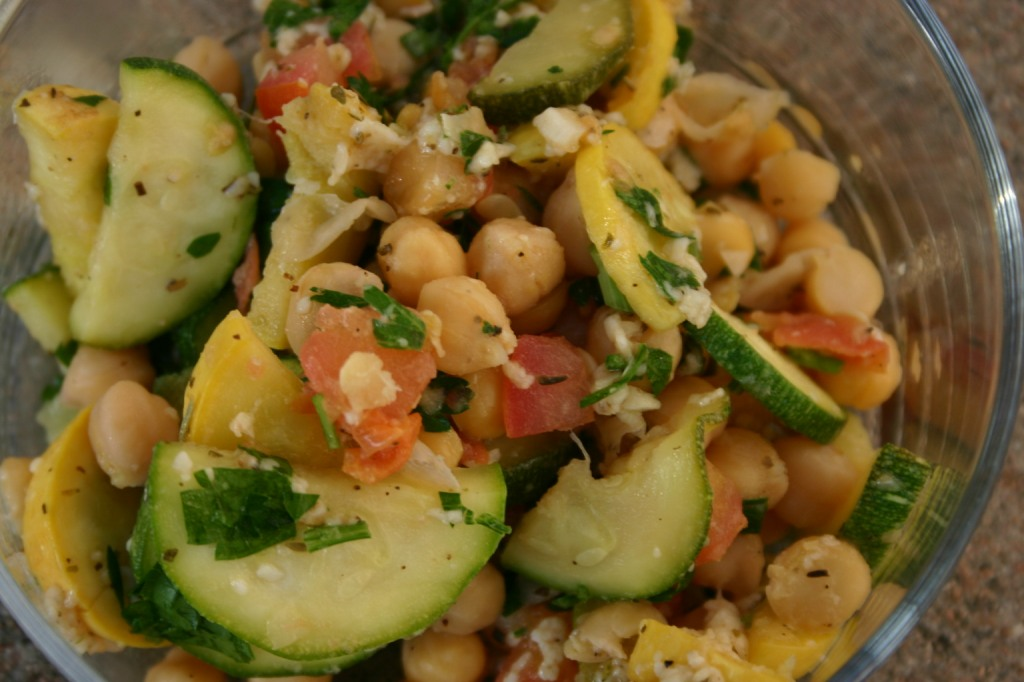 Squash and Chickpea Salad